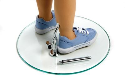 Glasstandplatte für flexible Kinderfiguren