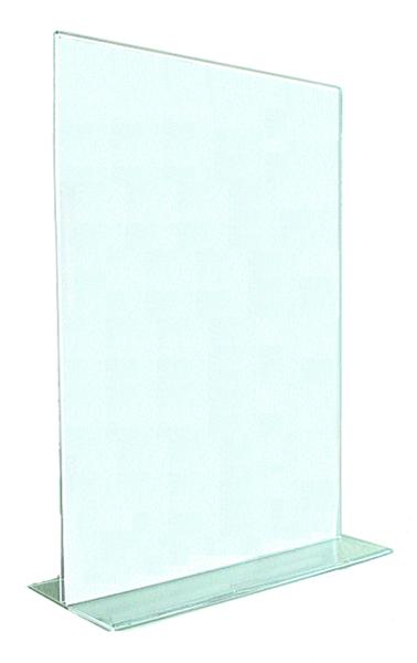 T-Aufsteller aus Acrylglas Hochformat