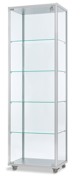 Alu-Profilvitrine 60x41,7x183 cm, optional LED Beleuchtung