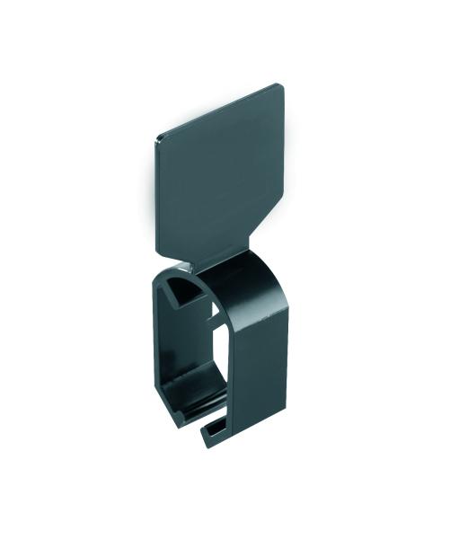 Schildring schwarz, neutral, für Ovalrohr 35*20 mm