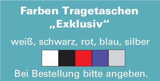 """Papiertragetasche farbig """"Exclusiv"""""""