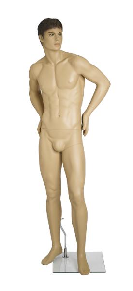 Herrenfigur Mark, skulpt.Haar, teint