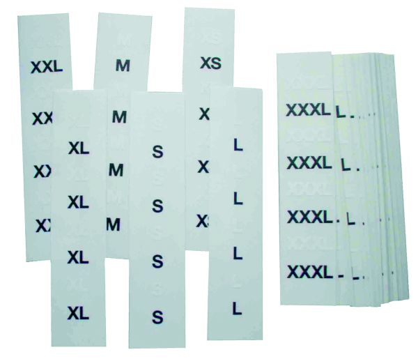 Textilaufkleber 140 x 30 mm, transparent