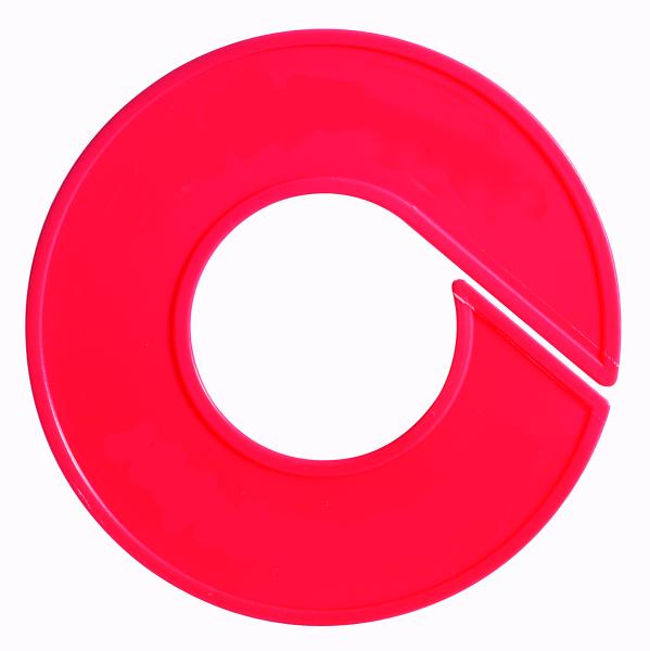 Ringscheibe neutral, mit Rand, rot