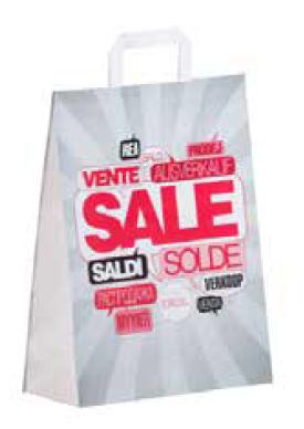 "Papiertragetasche ""SALE"" 26+12x35 cm"