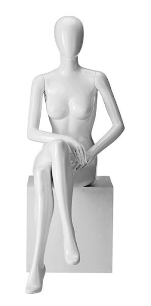 Dame 6 Hochglanz mit abstraktem Kopf,sitzend