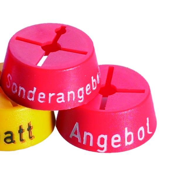 Marketingreiter rot -Sonderangebot- 25 Stck. im Beutel