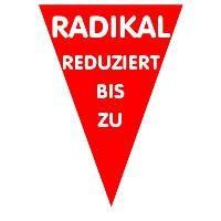 "Ankleber ""Radikal reduziert"" Dreieck"