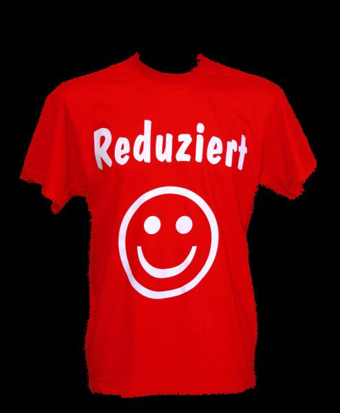 "T-Shirt ""Reduziert"" rot,Stoff"